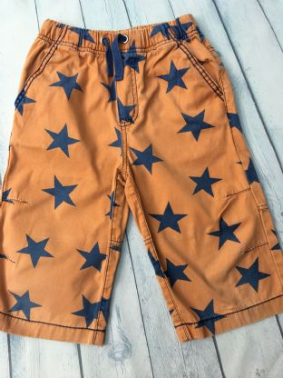 Mini Boden orange and navy blue shorts age 9 (fits age 8-9)